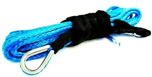 Winch Rope Blue Synthetic 3 8 Cable 3 8 X 50 Feet For Off Road Recovery Gear