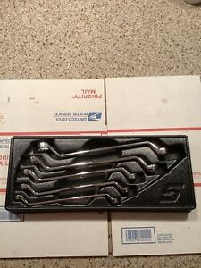 Snap on 5 Piece Metric 60 Degree Deep Offset Box Wrench Set xom605