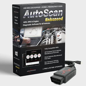 Autoscan Enhanced Obd2 Engine Diagnostic Software For All Vehicles Usb Elm327