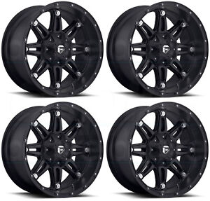 20x12 Fuel D531 Hostage 8x6 5 8x165 1 44 Matte Black Wheels Rims Set 4