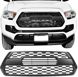 Front Grille Bumper Hood Black Grill W Letters Fit For Tacoma 2016 2019 Us Stock