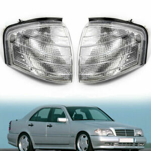 For Mercedes Benz C Class W202 1994 2000 Pair Corner Lights Turn Signal Lamps
