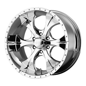 17 Inch 6x139 7 4 Wheel Rims Helo Series He791 17x9 18mm Chrome
