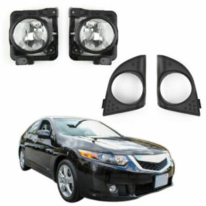 Lh rh Foglight Fog Light Lamp Cover Metal Without Bulb For Acura Tsx 2009 2010