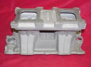 Vintage Weiand Small Block Chevy Tunnel Ram 327 350 400 Sbc New Dual Four 4 2x4