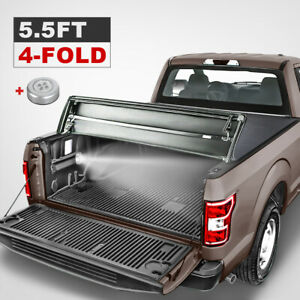 5 5ft 4 fold Truck Bed Soft Tonneau Cover For 15 19 Ford F150 Super Crew Cab New