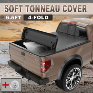 Tonneau Cover 6 5 For 07 13 Chevy Silverado Gmc Sierra Truck Bed 4 Fold 6 5feet