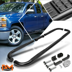 For 99 16 Chevy gmc ram Truck Ext crew Cab 3 Step Nerf Bar Running Board Black