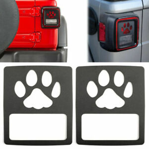 Tail Light Cover Guard Dog Paw Style Accessories Fits Wrangler Jl 2018 Usa