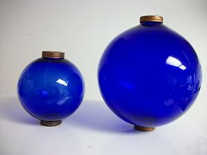 4 5 And 6 5 Blue Glass Balls For Weathervanes Or Lightening Rods