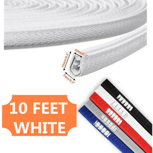 10 Feet Car Door Trim Edge Guard Moulding Rubber Seal White Protector Strip