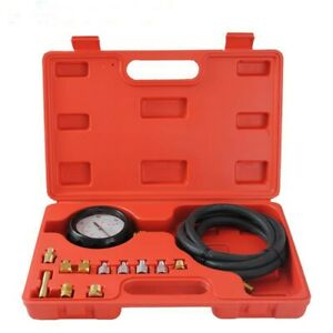 Engine Oil And Transmission Pressure Tester Gauge Kit W Adapters 300psi 1 8 27