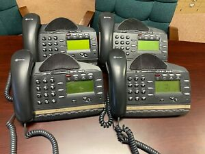 Lot Of 4 Mitel 3000 Phones With Handsets And Manual