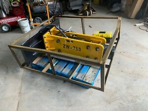 Skid Steer Hydraulic Hammer Concrete Breaker 2 Bits Hoses And Couplers Wolverine