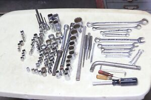 Craftsman Tool Lot Wrenches Sockets More 100 Pieces All Different Usa