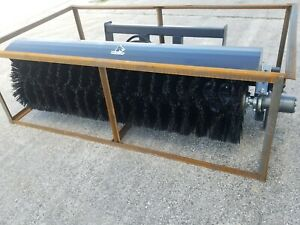 New 72 Skid Steer Quick Attach Angle Brush Broom Sweeper Attachement