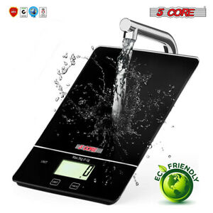 5 Core Digital Touch Screen Glass Top Kitchen Postal Scale 5kg 11lbs Food Diet