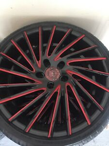 Corvette Rims And Tires Staggered Lexani 20s In Front 22s In Back New Tires