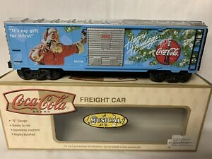✅K-LINE BY LIONEL OPERATING COCA COLA SANTA CHRISTMAS MUSIC BOX CAR! COKE TRAIN