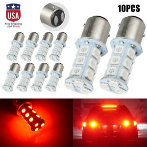 10x Red T25 1157 5050 18 smd Car Auto Led Turn Signal Light Tail Brake Lamp Bulb