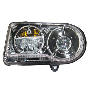 New Drivers Halogen Headlight Headlamp Lens Assembly For 05 10 Chrysler 300