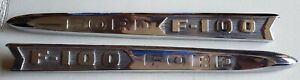 1961 62 Ford F 100 Truck Side Emblem Name Plates Citb 16720 21 Nice Usa