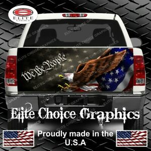 American Flag Eagle Constitution Truck Tailgate Wrap Vinyl Graphic Decal Sticker