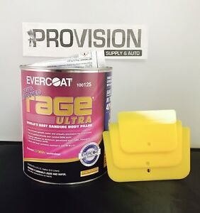 Evercoat 125 Rage Ultra World s Best Sanding Body Filler 0 8 Gallon w Spreaders