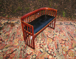 Antique Arts And Crafts Mission Settee Josef Hoffmann Settee Stickley Era W5278