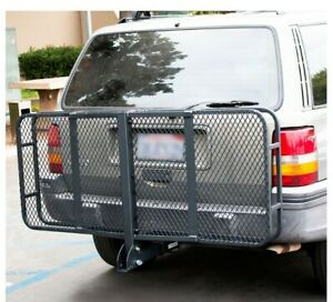 Us Seller 60 Folding Truck Car Cargo Carrier Basket Luggage Rack Hitch 2 Hitch