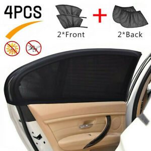 4pcs Universal Car Window Sun Shade Curtain fits All Cars Front Rear