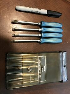 Snap On Tools Usa Sdtx40b Teal Blue Mini 4 Torx Set Hard Plastic Short T8 T20