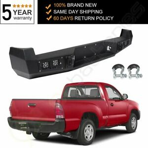 For Toyota Tacoma Usa 2005 2006 2015 Black Guard Rear Steel Step Bumper Assembly