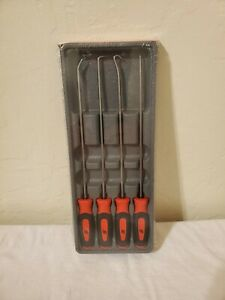 Snap On Tools New Sealed 4 Piece Soft Handle Extra Long Pick Set Sglasa204cr