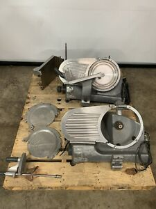 lot Of 2 Hobart Meat Cheese Slicer For Parts Model 2612 2712