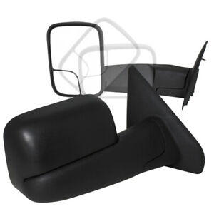 For 2002 2008 Dodge Ram 1500 Truck Manual Towing Fold Out Mirrors Black 2500 350