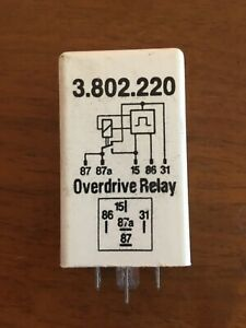 Overdrive Relay White 3802220 For Volvo 240 244 245 740 760 940