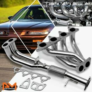 For 92 96 Honda Prelude 2 3l 4cyl H23 Bb2 Stainless Steel Racing Exhaust Header