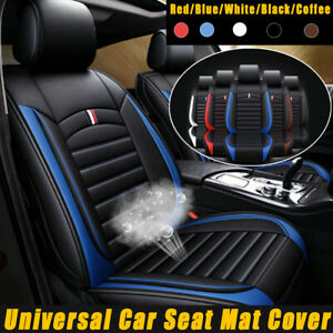 Universal Car Front Seat Cushion Pad Mat Chair Cover Pu Leather Comfortable Usa