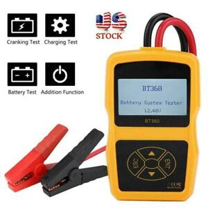 12v Bt 360 Car Load Battery System Tester Digital Analyzer Cell Test Tool Us