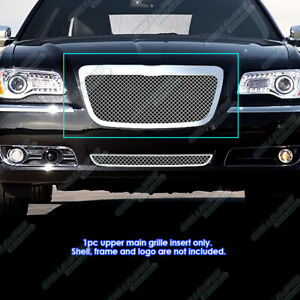 For 2011 2014 Chrysler 300 300c Stainless Steel Mesh Grille Grill Insert