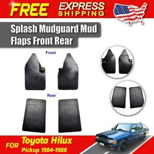 Splash Guard Rubber Mud Flaps Fit For Toyota Hilux Ln50 2wd Pickup 1984 1988 New