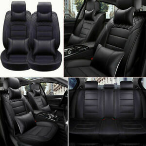 Luxury 5 Sit Car Seat Cover Universal Cushion Front Rear Top Pu Leather Interior