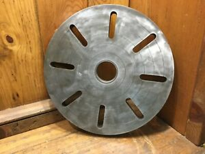 12 Od Slotted Lathe Face Plate D1 5 Camlock Spindle Hub Used