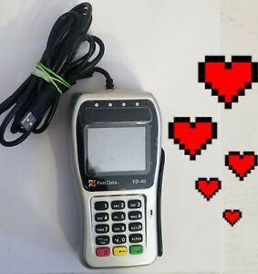 First Data Fd 40 Credit Card Machine Reader Pinpad Works W clover Fast Ship