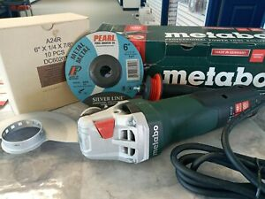 Metabo Wep 15 150 Quick Angle Grinder 6 Inch With A 10 Pack 6 Inch Grinding