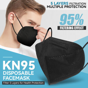 10 Pcs Disposable Kn95 Face Mask 5 ply 95 Filter Protective Cover Pm2 5 Ffp2