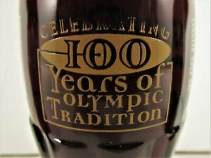 1996 NEW COCA COLA BOTTLE 100 YEARS OF OLYMPICS FROM ATHENS TO ATLANTA UNOPENED