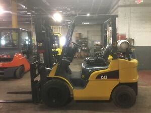 2016 Cat 5000 Lb Solid Pneumatic Forklift With Side Shift And Triple Mast