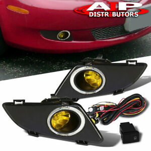 For 03 05 Mazda 6 Jdm Yellow Lens Replacement Fog Lights Lamps Wiring Harness